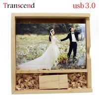 Transcend nhiếp ảnh 64 GB bằng gỗ usb + hộp usb3.0 ổ đĩa flash USB 4 gb 8 gb 16 gb 32 gb ổ đĩa bút Maple gỗ sáng tạo