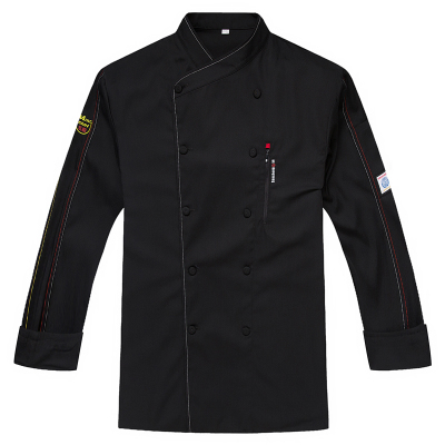 2018 New Summer Chef Uniform Long Sleeved Double Breasted Restaurant Cook Uniforms Work  ...