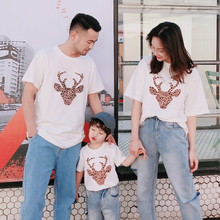 casual tshirts family matching outfits look mommy and me clothes mother daughter dad son tee shirts mom girl clothing