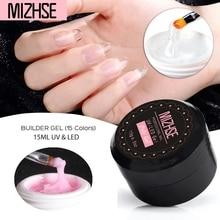 MIZHSE Fast Extension Builder Gel UV Nail Gel polish For Nail Extensions Led Hard Gel Nail Strong False tip Nail UV Poly Gel