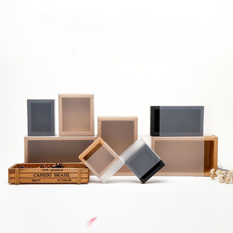 New Cute10pcs Kraft Paper Drawer Paper Box Frosted Tea Packaging Box Custom Thickened Gift Box Rectangular Gift Packaging Custom
