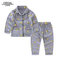 CROAL CHERIE 90 120cm Sleepwear For Girl Baby Boy Fall 2017 Kids Long Seeve Pajamas For