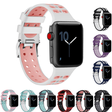 DIDI Silicone Apple Watch Band 38mm Strap Bands 42mm Bracelet Apple Watch Straps iWatch Band 38mm 42mm Series 4 3 2 1 Watchband