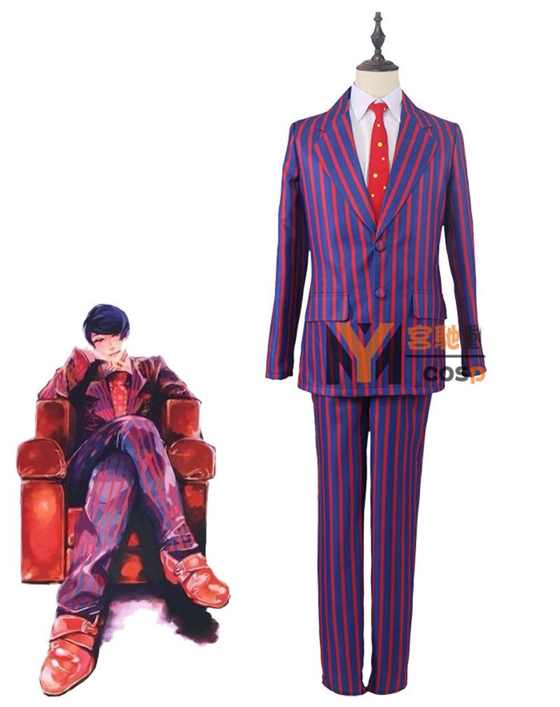 все цены на Tokyo Ghoul Toka Kirishima Jocker Man Woman Suit Uniforms Jacket+shirt+pants