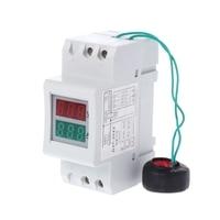 NOVA 2P 36 milímetros Trilho Din Dual LED Voltage Meter Atual 80 Voltímetro Amperímetro AC 300-250 V -450V 0-100A