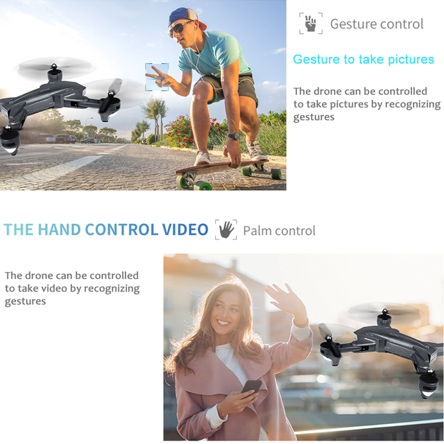 Visuo XS816 RC Drone with 50 Times Zoom WiFi 4K Dual Camera Optical Flow Quadcopter Foldable Selfie Drone 3