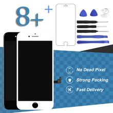 1 unids de Alta Calidad Para el iphone 8 Más Pantalla LCD Con Teléfono de Pantalla táctil Digitalizador Asamblea Reemplazo Sin Píxeles Muertos Envío nave