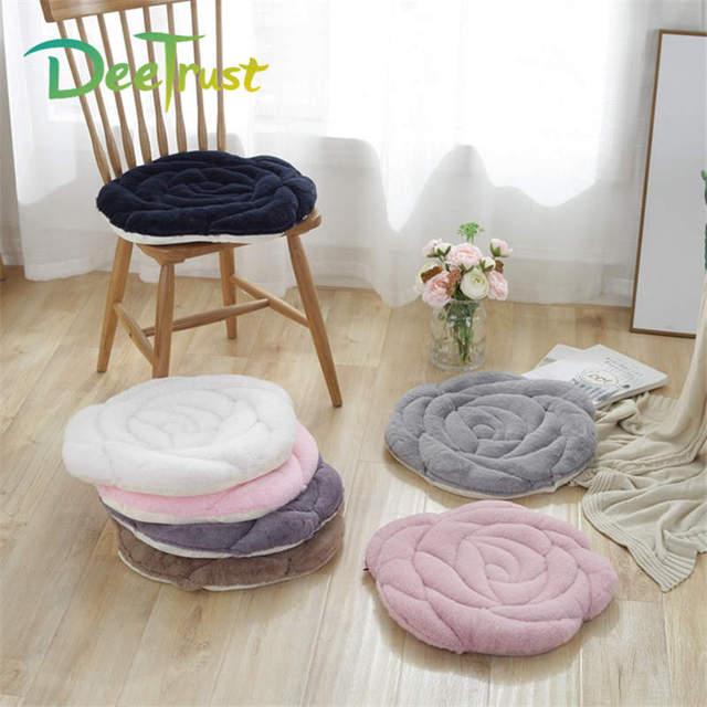 Японский стиль 45x45 см 5 цветов плюшевый розовый софа, кресло, сидение Подушка Татами Коврики теплый пол Нескользящая подушка коврик автомобильный коврик Cojines