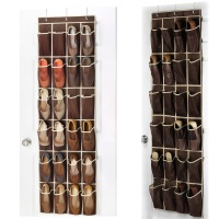 24 Pocket Home Over The Door Hanging Organizer Holder Storage Rack Closet Shoes