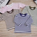 Kids Long Sleeve Striped T shirt 2017 Girls Boys Cotton T-shirts for Spring Children Fashion Soft Toddler Baby Tees Tops YA320