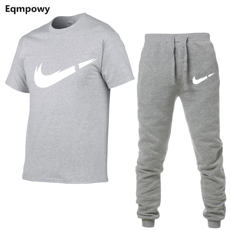 HTB19yuZNVzqK1RjSZFCq6zbxVXax 2019 Summer New Men's T shirt Tracksuit Casual Suits gym Clothing Man Sets Tops+Pants Male sweatshirt Men Brand T Shirt Set