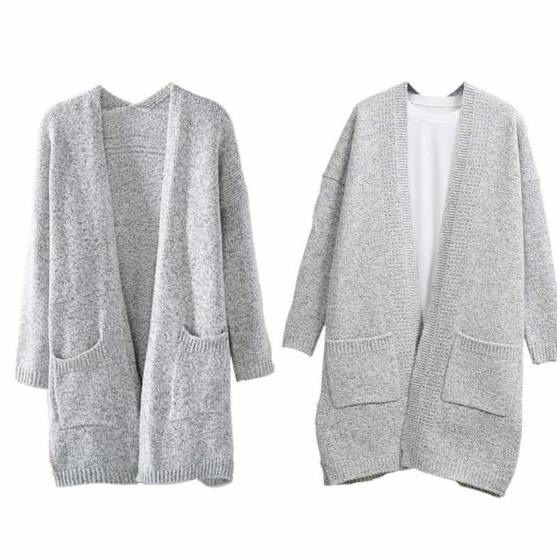 98d1e758 ... Women Fashion Knitted Sweater Coat Long Sleeve Cardigans Casual Loose  Jacket Outwear Autumn Winter ...