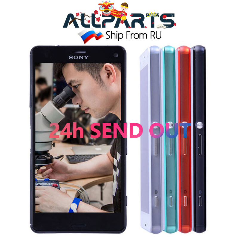 4 6 Inch Original BLACK WHITE Display For SONY Xperia Z3 Compact LCD Touch Screen Digitizer