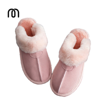 Millfft Quality Sheep Fur One Wool Slippers Household Shoes Lovers Wool Body Sheepskin Slippers Man And