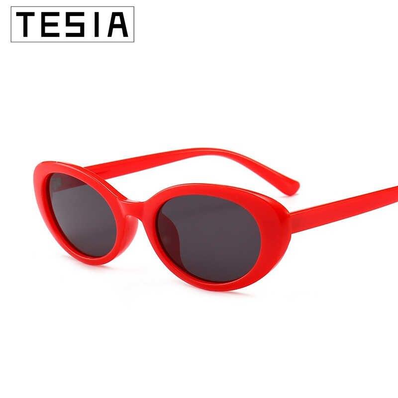 แว่นกันแดดรูปไข่ขนาดเล็กผู้หญิงสีชมพูสีแดงแว่นตายี่ห้อ Designer Shades สำหรับผู้หญิง Sunglases Zonnebril Dames UV 100% Oculos De Sol