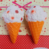 20CM Kawaii Soft Scented Squishy Jumbo Ice Cream Super Slow Rising Queeze Bun Toys Cute Squishies
