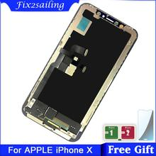 100% Tested Working LCD For iPhone X LCD display + Touch Screen Replacement Parts no dead pixel цена
