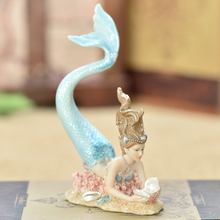 Creative resin Mermaid Furnishing articles Home decor Micro Fairy Garden Figurines Miniatures home decoration Accessories