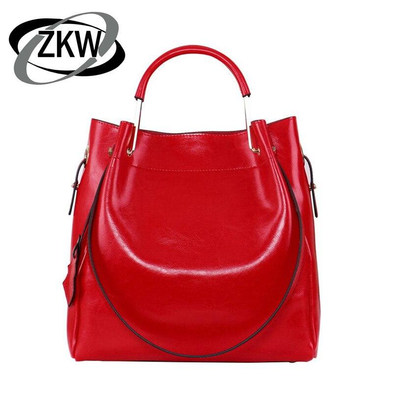 b2d63269dd1a ZKW тот продаж натуральная кожа сумка хорошее качество Женская сумочка  оборудования корейский раза наручные моды Повседневное сумка