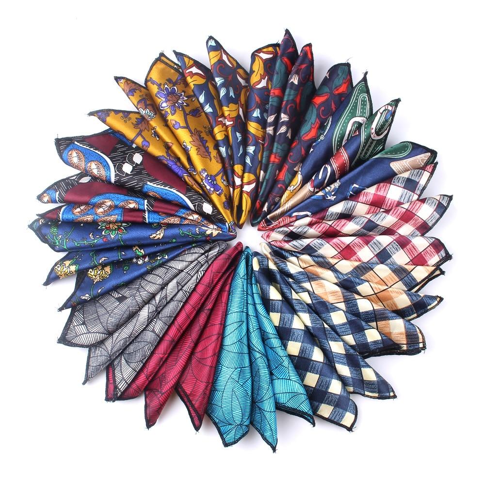 MEN  Pocket Square Floral Handkerchief For Suits 23cm*23cm Hankies For Men Women Brand Suits Pocket Towel Hanky