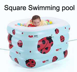 Portable Beetle inflatable baby swimming pools Four layers square plastic pool infant babies wimming pools piscina hinchable