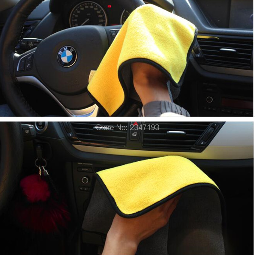 Car Care Cloth Detailing Car Wash Towel For Skoda Fabia Ford C-max Alfa 159 Peugeot 807 Corolla Verso A6 C6 Suzuki Audi A5 Traveling Car Tax Disc Holders