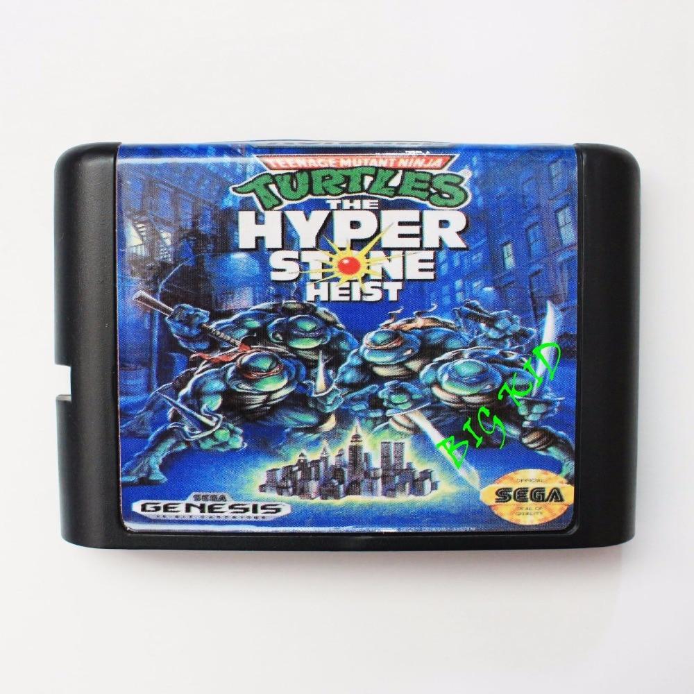 Turtles The Hyperstone Heist 16 bit SEGA MD Game Card For Sega Mega Drive For Genesis