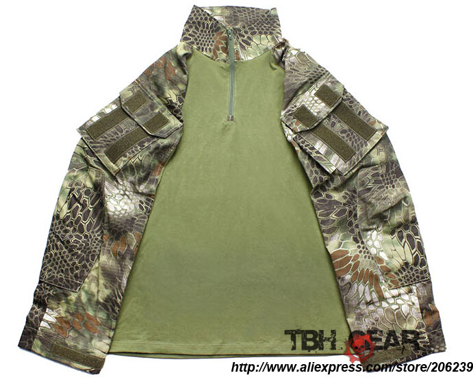 TMC G3 Style 1819-MAD Combat Shirit Kryptek Mandrake Camo Tactical Shirt+Free shipping(SKU12050220) Рубашка