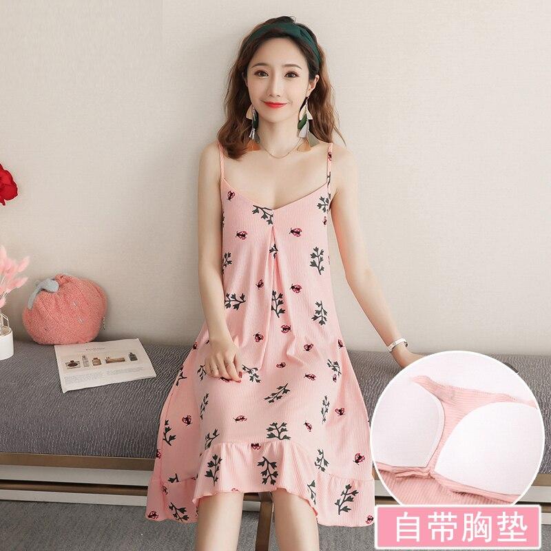 Yidanna Women Sleeveless   Nightgown   Summer Cotton   Sleepshirt   Female Sleep Clothing Cute Princess Sleepwear Lady Nightwear Nighty