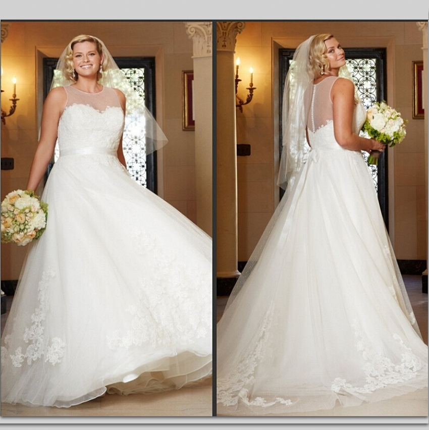 Online buy wholesale wedding dresses for fat brides from for Best wedding dress styles for plus size brides