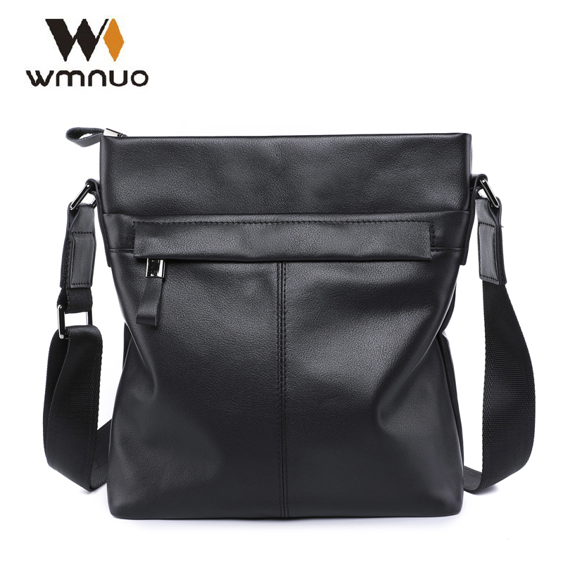 Wmnuo Men Messenger Crossbody Bags Genuine Cow Leather Men Shoulder Bag 2018 New Fashion Men Handbags High Quality Business Bag 2015 new fashion style genuine leather business women messenger bags causal ladies handbags with high quality shoulder bag