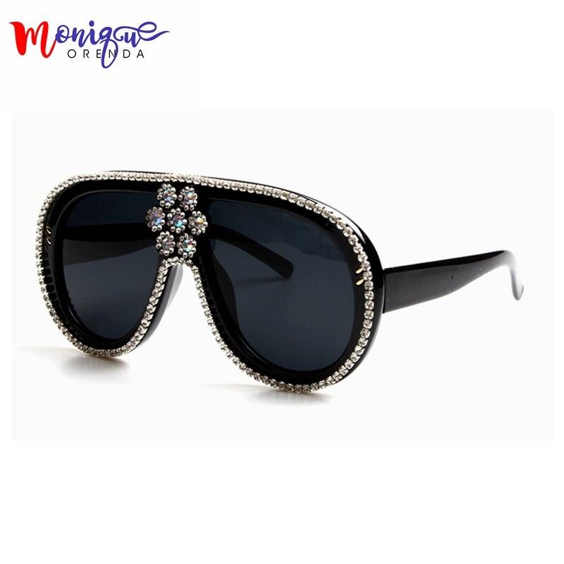 Gafas de sol de gran tamaño de las mujeres de lujo diseñador de la - Accesorios para la ropa