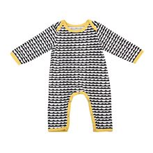 Spring Autumn Baby Clothes Cartoon Baby Boy Clothes Stripe Romper Jumpsuit Clothes Warm Newborn Infant Romper dropshipping(China)