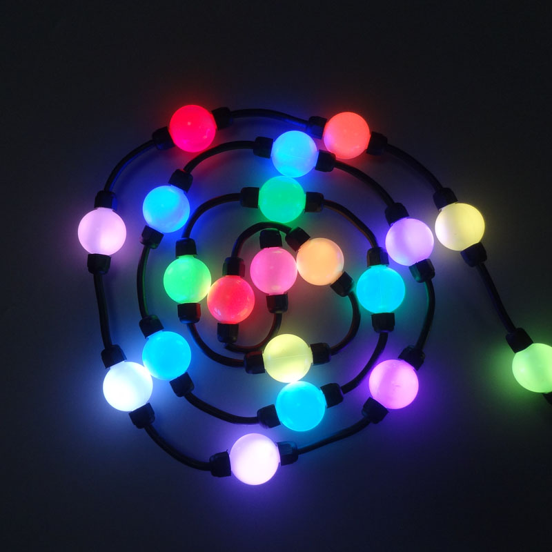 500X DMX512 D35mm Colorful Magic 3D Ball DC12V Input LED Pixel Point Light For Hanging Curtian Express Free Shipping