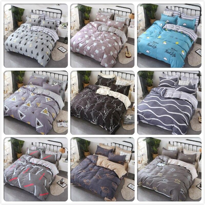 Couple Double Big Size Duvet Cover Quilt Comforter Case 4pcs Bedding Set Full King Queen Twin Single Bed Linen Kids Child Cotton