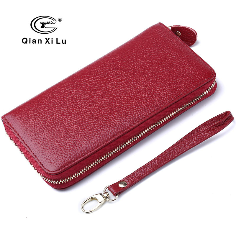 2017 New Candy Lady Purse Genuine Leather Wallets Zipper Clutch Female Card Holders Money Bag 8 color new arrival genuine leather wallets women card holders purse 2017 sexy ladies clutch money bag leather handbags