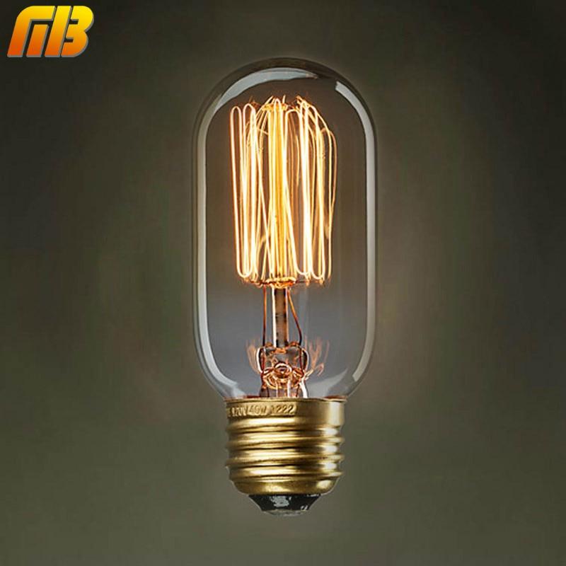 [MingBen] Vintage Edison Bulbs E27 220V T45 Incandescent Bulbs 40W Filament Retro Edison Light For Pendant Lamp Decoration Bulb