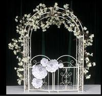 Tie yi han style arch frame european style wedding props european style wedding arch frame white princess wedding.