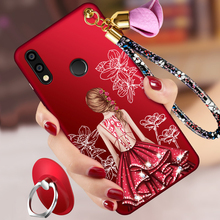 ALIVO For Huawei P20 Lite case Cartoon Painted relief Full Protection silicon Fitted Case+hand rope for huawei p20lite 5.84