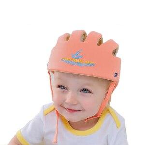 Image 4 - 아기 안전 학습 도보 모자 anti collision 보호 모자 소년 소녀 부드러운 편안한 헬멧 머리 보안 보호 조절 가능