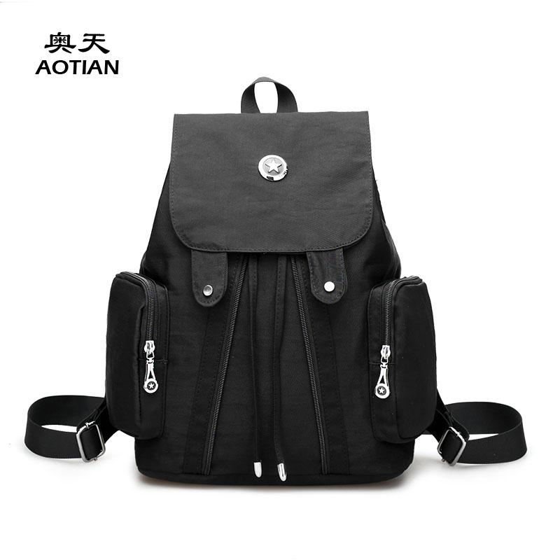 Sky fantasy fashion youth waterproof nylon Korean preppy style women small backpack vogue classic brand girls student school bag classic designer style women small backpack cattle split leather backpack with nylon inside