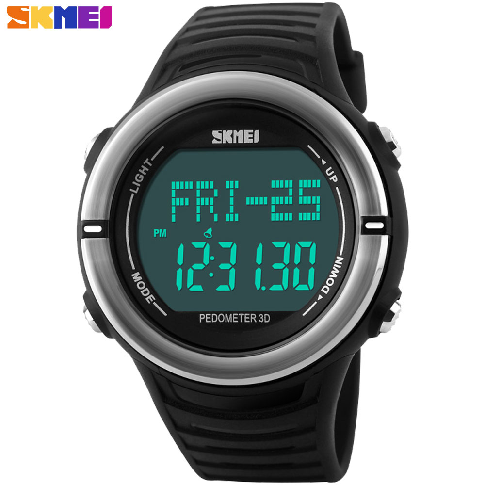 2017 New SKMEI Luxury Brand Men Military Sports Watches Digital LED heart rate monitor pedometer calories