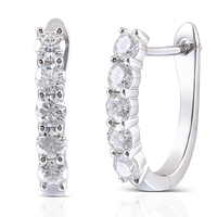 Queen Brilliance 1 6ctw 3 5mm GH Color Lab Grown Moissanite Diamond Earrings For Women Platinum