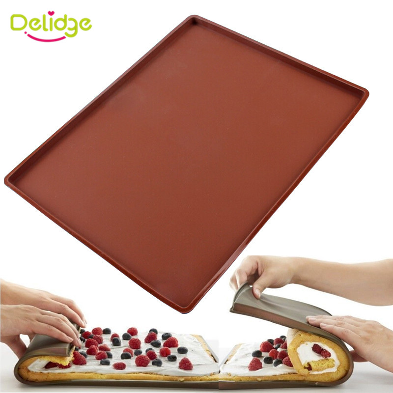 delidge 1pc Silicone Mat Cake Pad Bakeware Baking Tools