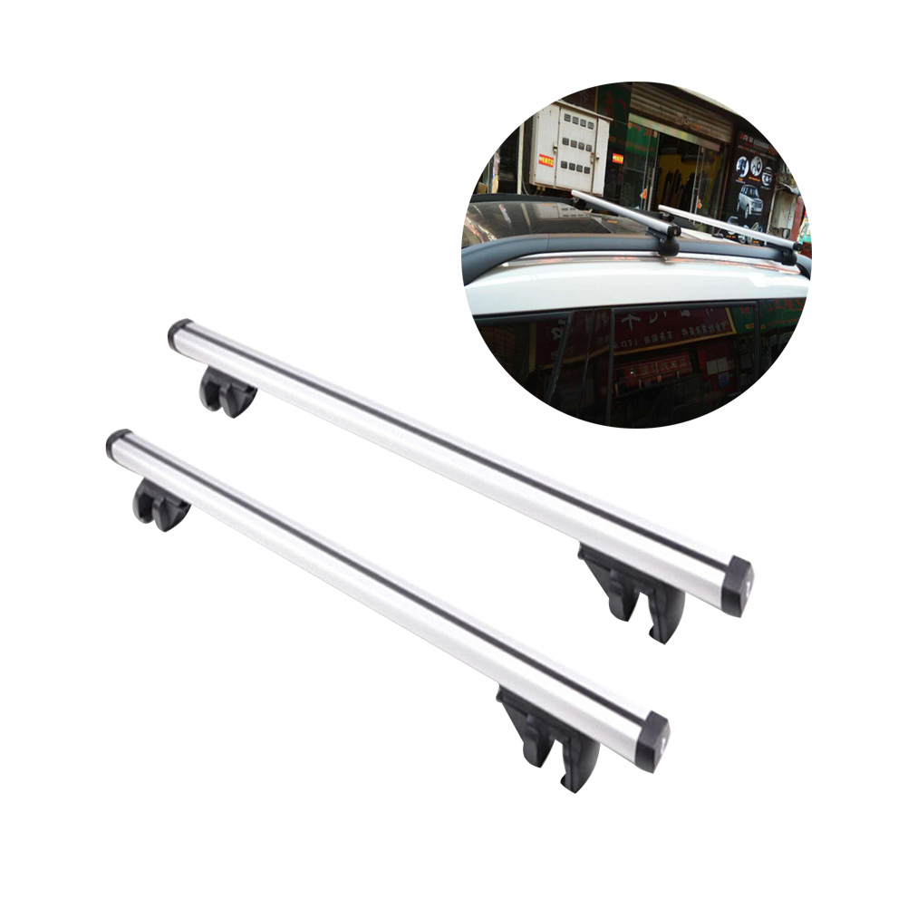 2pcs Aluminum Alloy Car Top Luggage Roof Rack Cross Bar Lockable Load Carrier Adjustable Window Frame Outdoor Car Roof Racks one pair car adjustable black front rear roof top rack cross bar for toyota 2013 2017 rav4