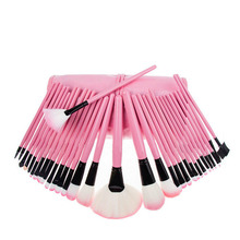 32pcs Free shipping  Wholesale foundation makeup brush pink make up brush airbrush electric hair brushes+pouch bag