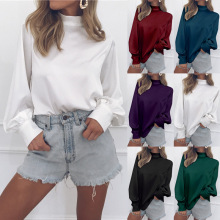 women shirts lantern sleeve blouses plus size clothing streetwear shirt boho turtleneck tops casual new fashion blouse spring