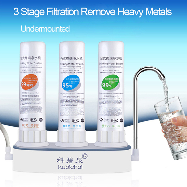 Table Type Kitchen Faucet Water Purifier 3 Stage Filtration Water ...