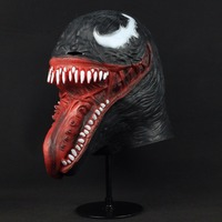 Crazy Venom Latex Mask Cosplay Black Spider Man Edward Brock 3