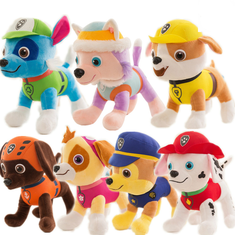 Paw Patrol Dog Puppy Toy 20cm/30cm/40cm Stuffed Plush Doll Everest Patrulla Canina Action Anime figure Toys For Children Gift